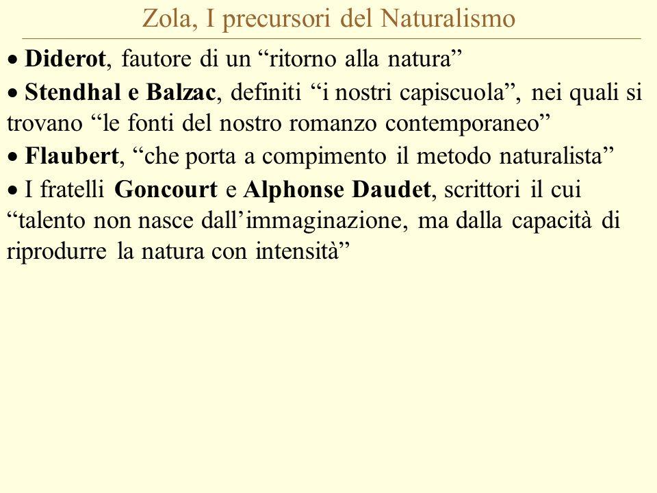 Zola, I precursori del Naturalismo