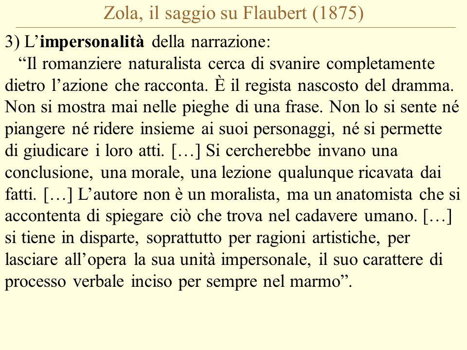 Zola, il saggio su Flaubert (1875)