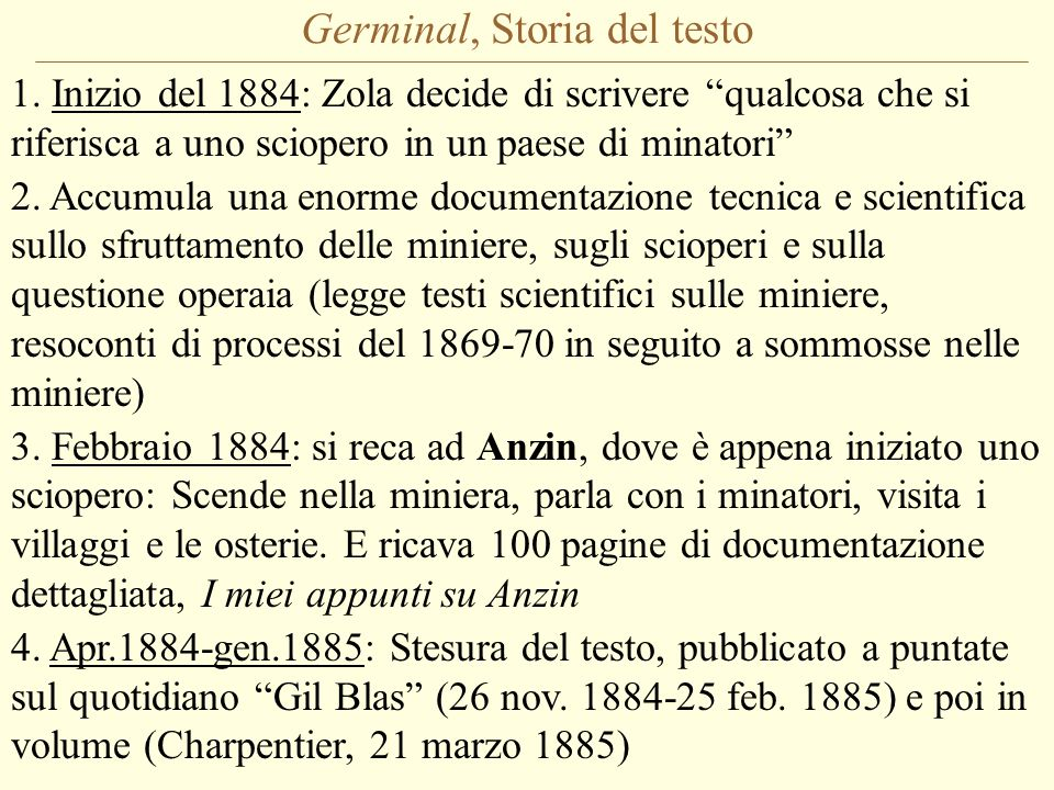 Germinal, Storia del testo