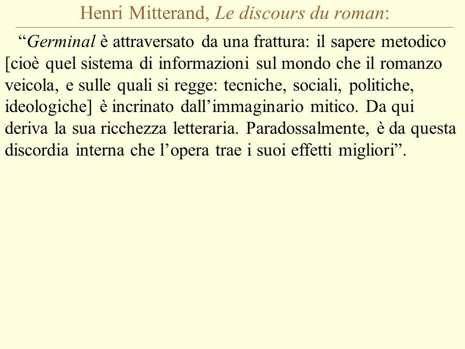 Henri Mitterand, Le discours du roman:
