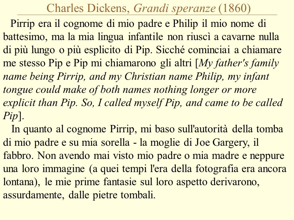 Charles Dickens, Grandi speranze (1860)