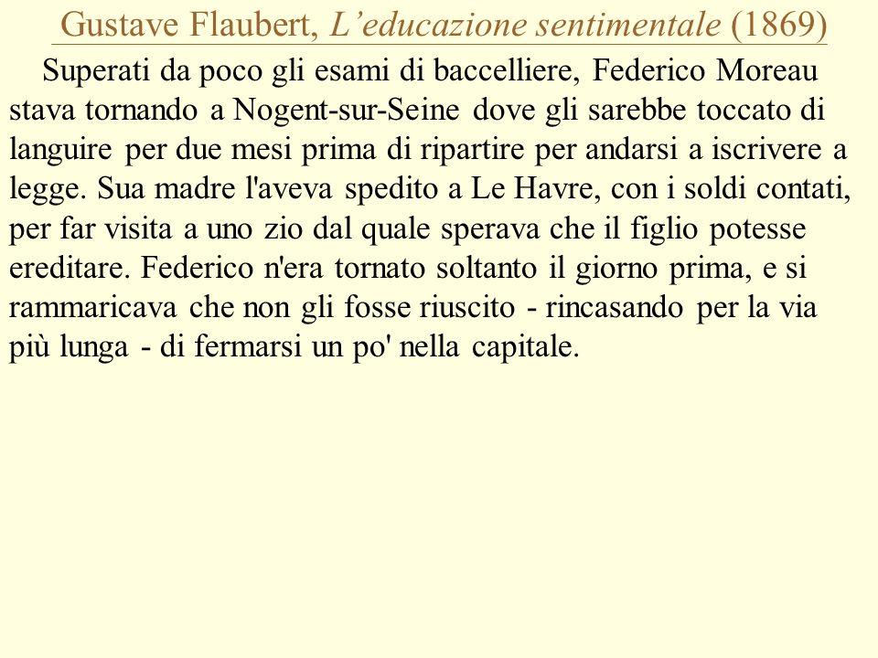 Gustave Flaubert, L'educazione sentimentale (1869)