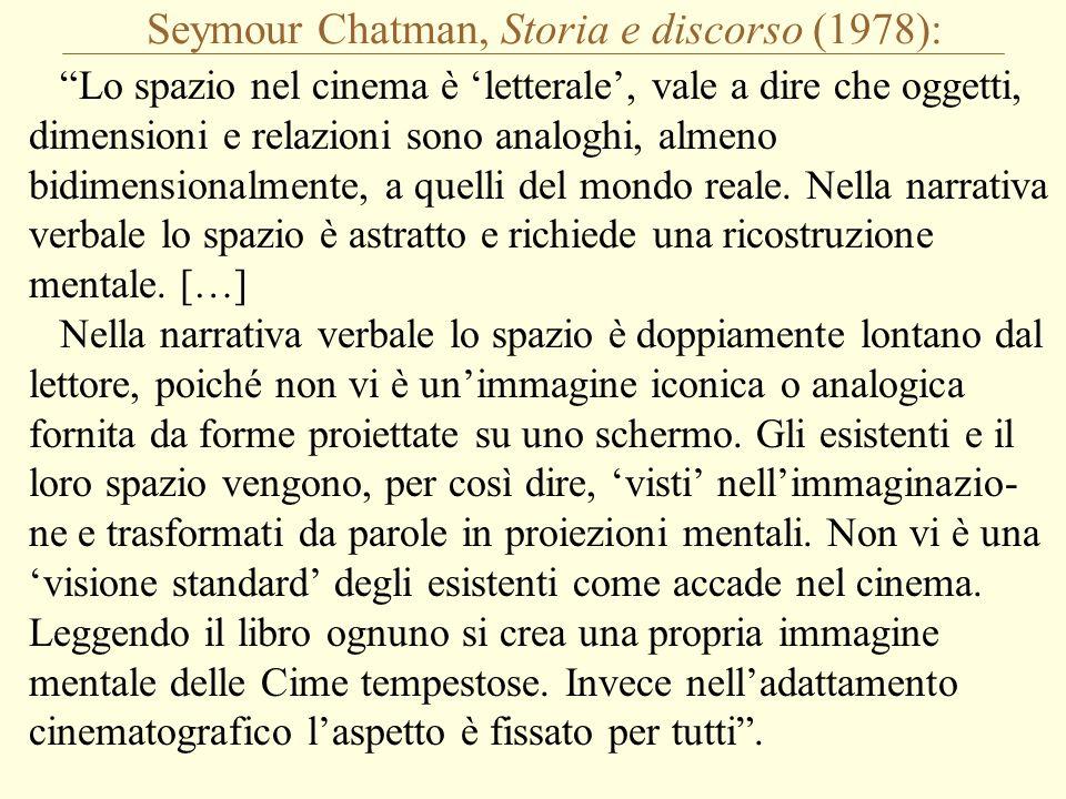 Seymour Chatman, Storia e discorso (1978):