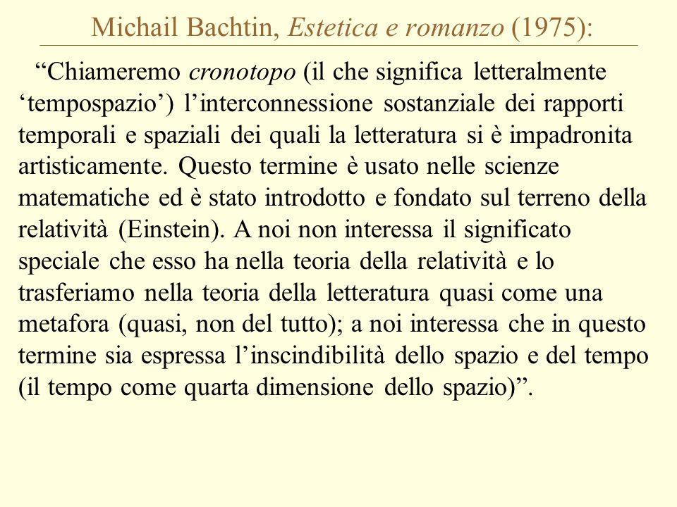 Michail Bachtin, Estetica e romanzo (1975):