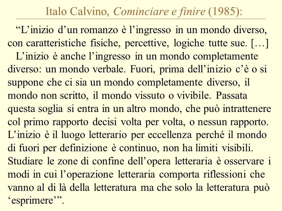 Italo Calvino, Cominciare e finire (1985):