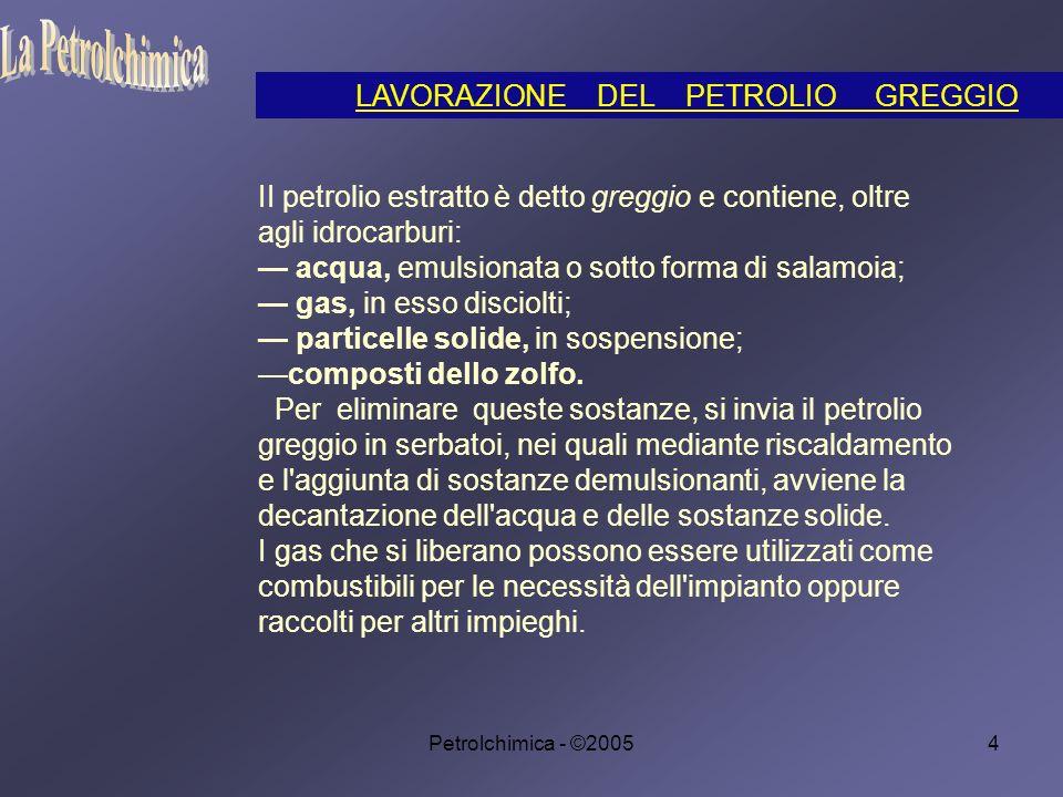La Petrolchimica LAVORAZIONE DEL PETROLIO GREGGIO