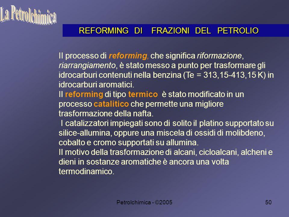 La Petrolchimica REFORMING DI FRAZIONI DEL PETROLIO