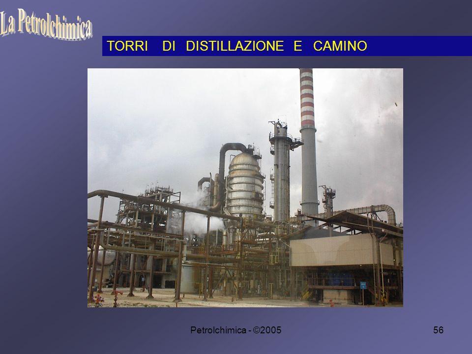 La Petrolchimica TORRI DI DISTILLAZIONE E CAMINO Petrolchimica - ©2005