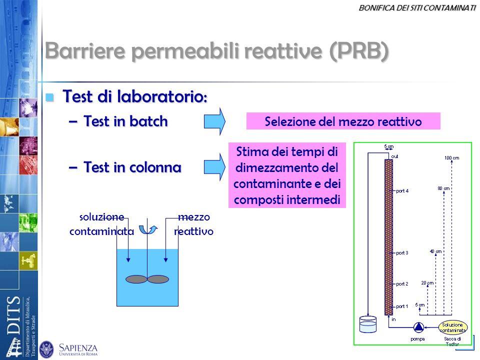 Barriere permeabili reattive (PRB)