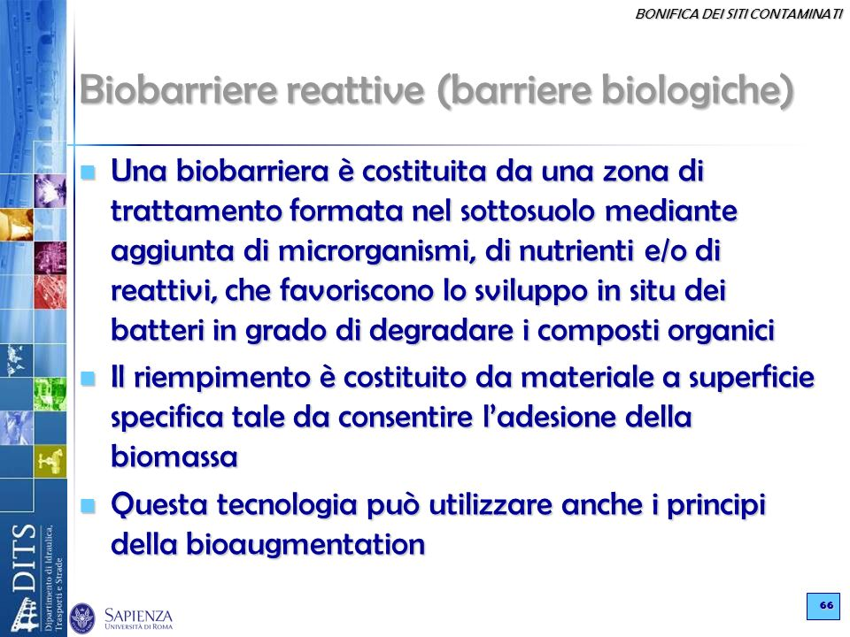 Biobarriere reattive (barriere biologiche)