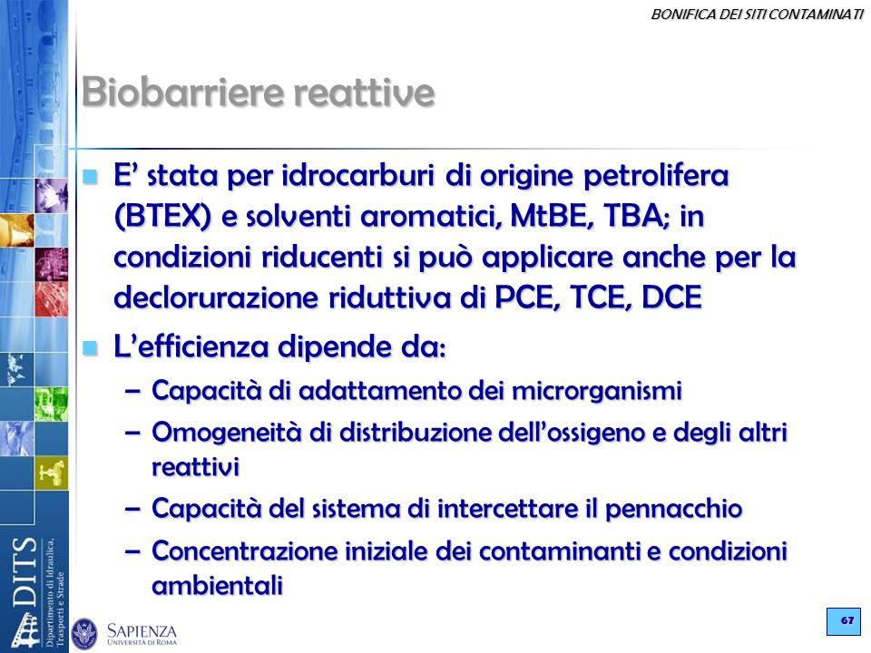 Biobarriere reattive