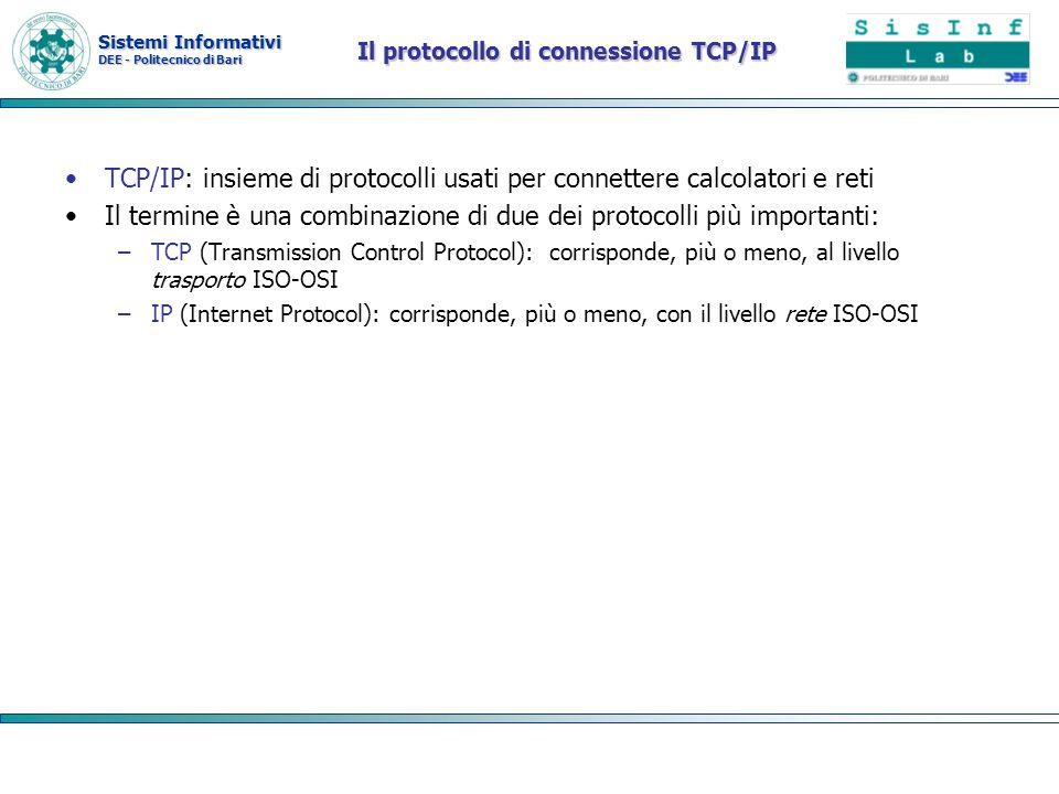 Il protocollo di connessione TCP/IP