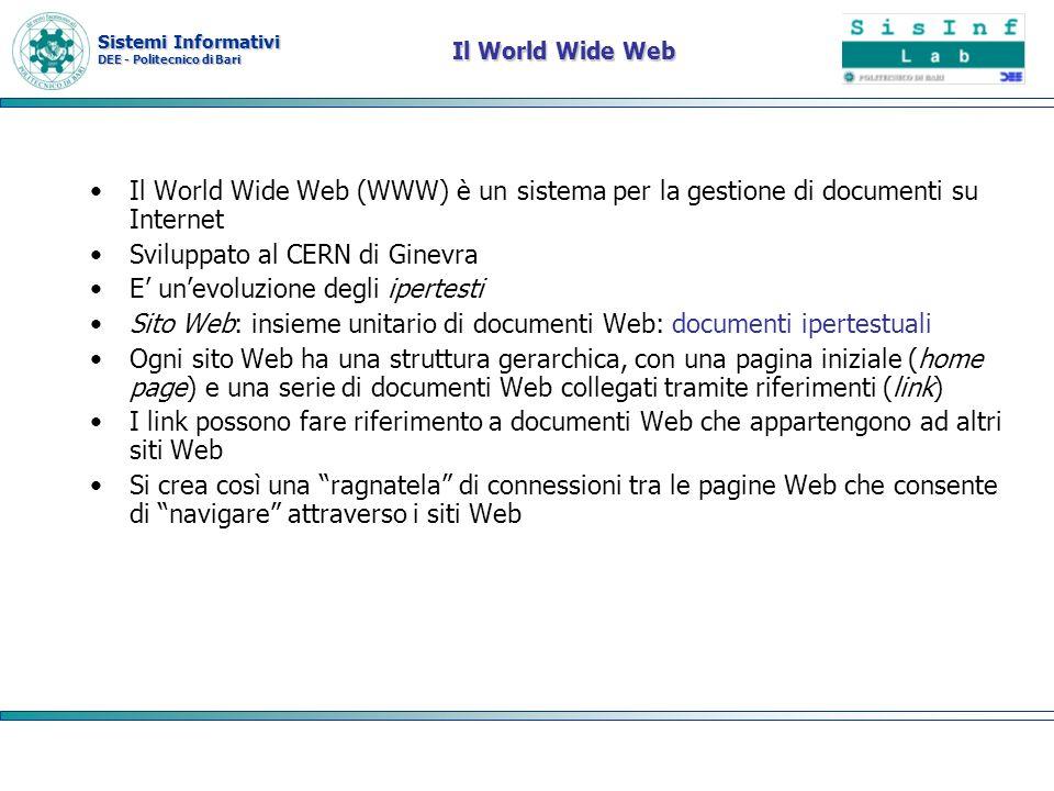 Sviluppato al CERN di Ginevra E' un'evoluzione degli ipertesti