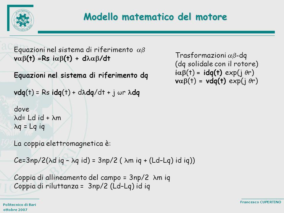Modello matematico del motore