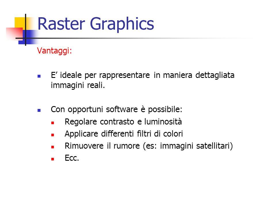 Raster Graphics Vantaggi: