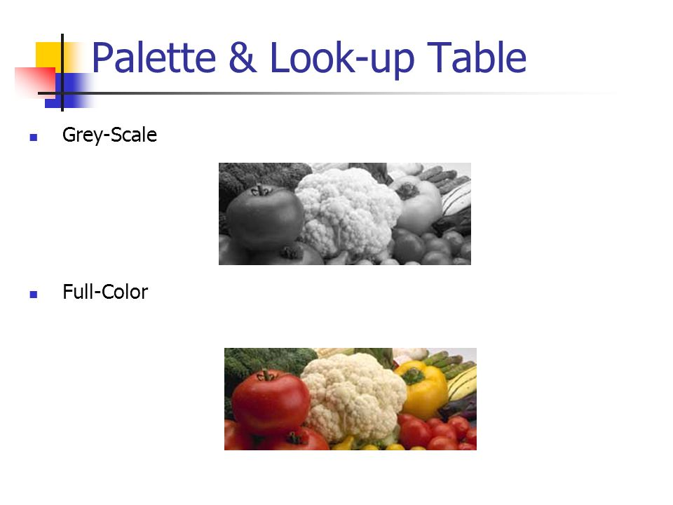 Palette & Look-up Table