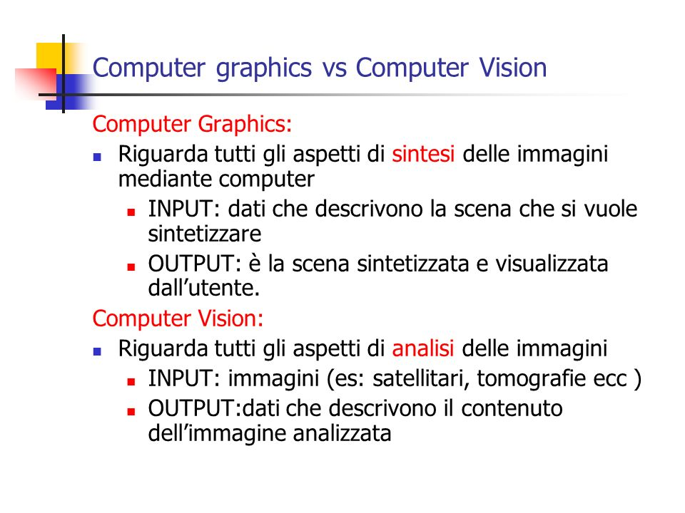 Computer graphics vs Computer Vision