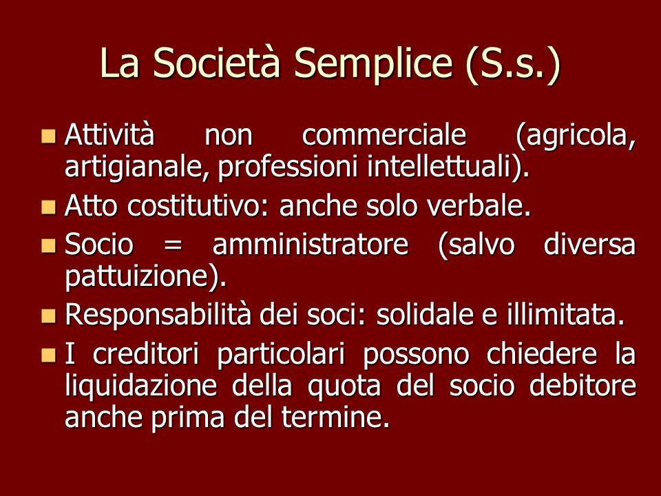 La Società Semplice (S.s.)