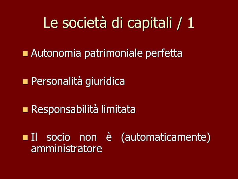 Le società di capitali / 1