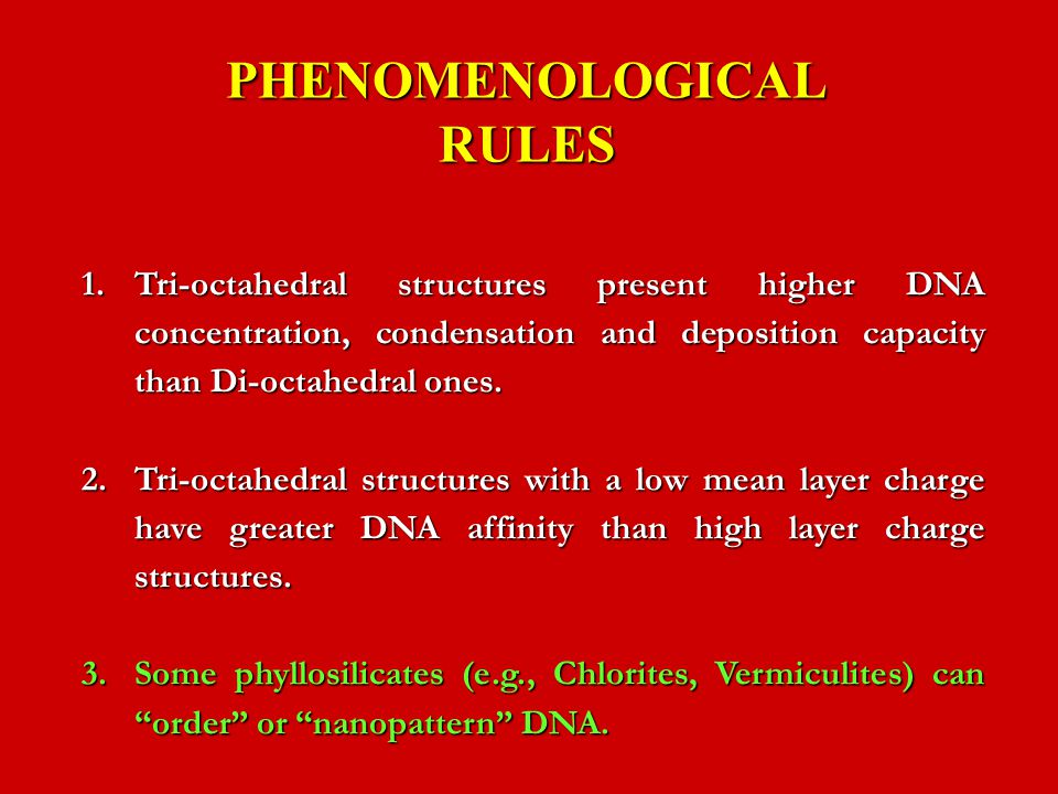 PHENOMENOLOGICAL RULES