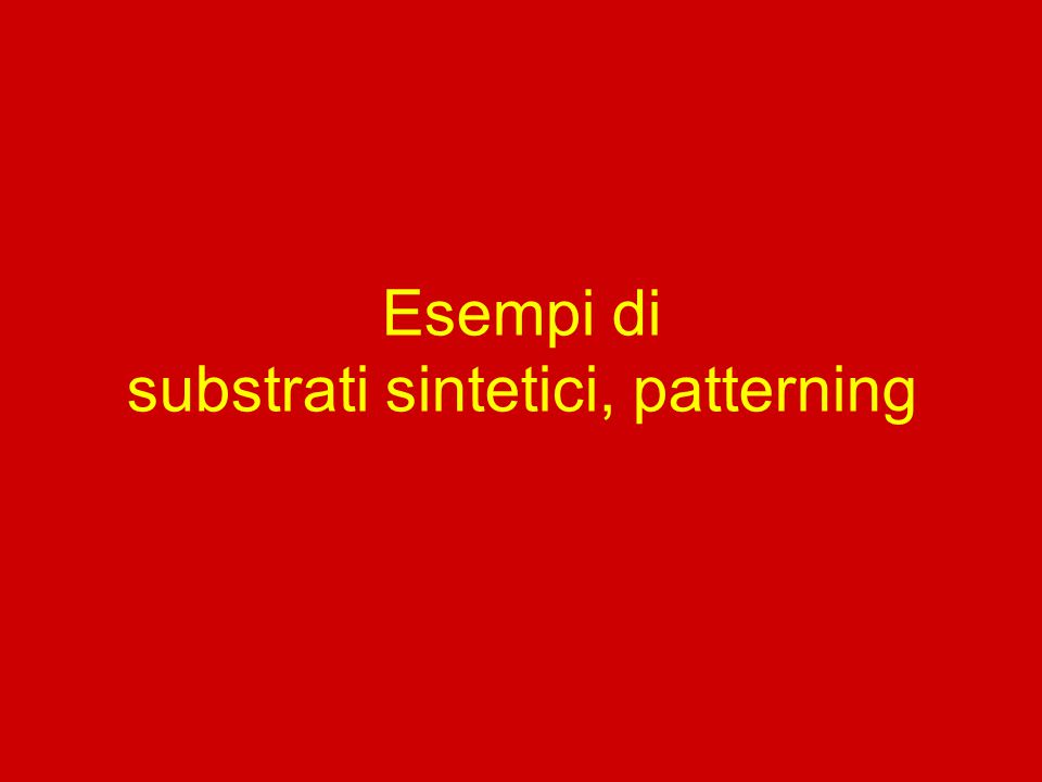 substrati sintetici, patterning