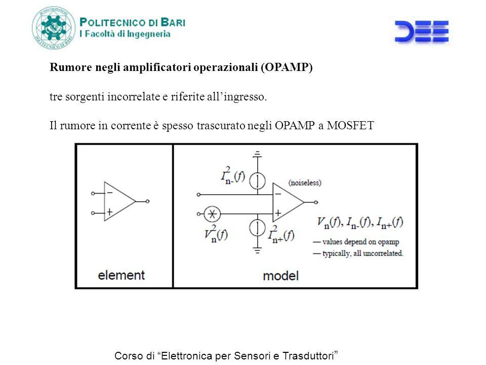 Rumore negli amplificatori operazionali (OPAMP)