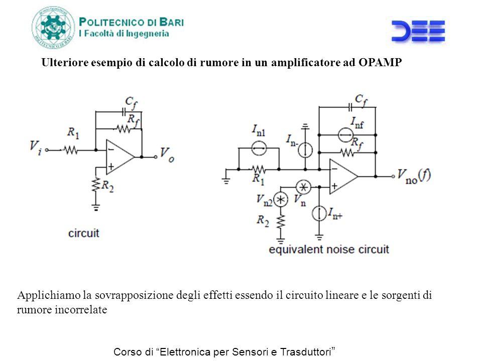 Ulteriore esempio di calcolo di rumore in un amplificatore ad OPAMP
