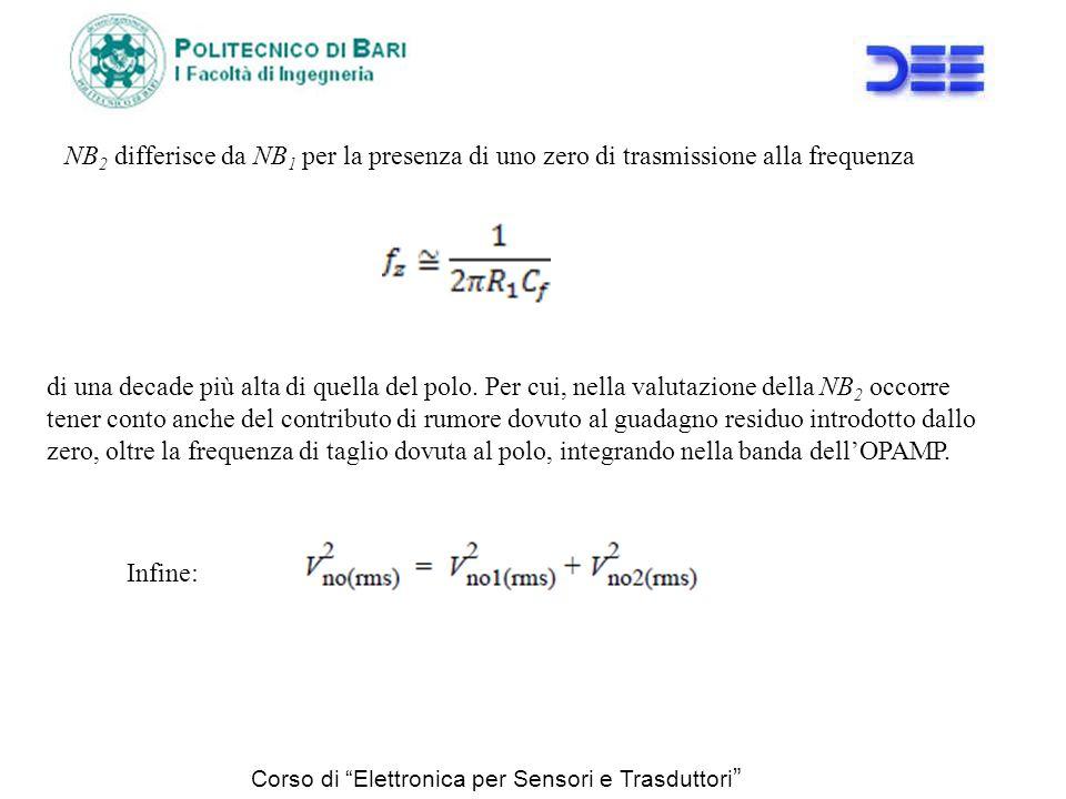 NB2 differisce da NB1 per la presenza di uno zero di trasmissione alla frequenza