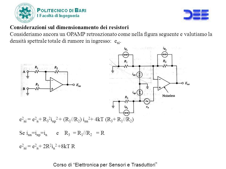 Considerazioni sul dimensionamento dei resistori