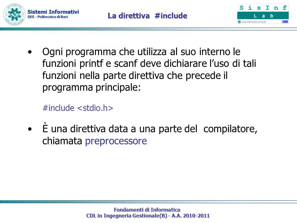 La direttiva #include