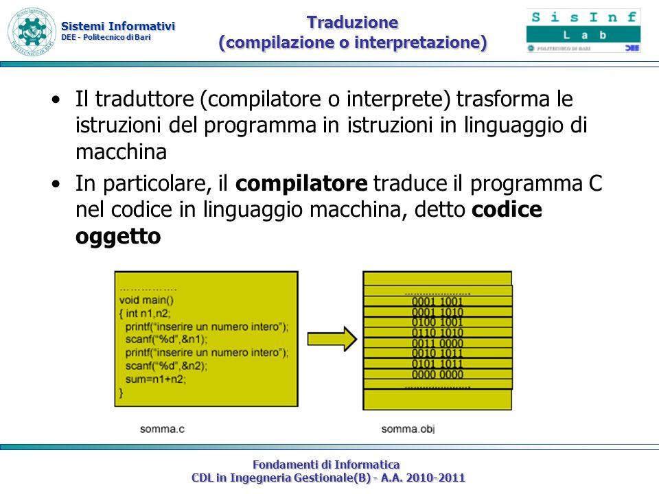 Traduzione (compilazione o interpretazione)