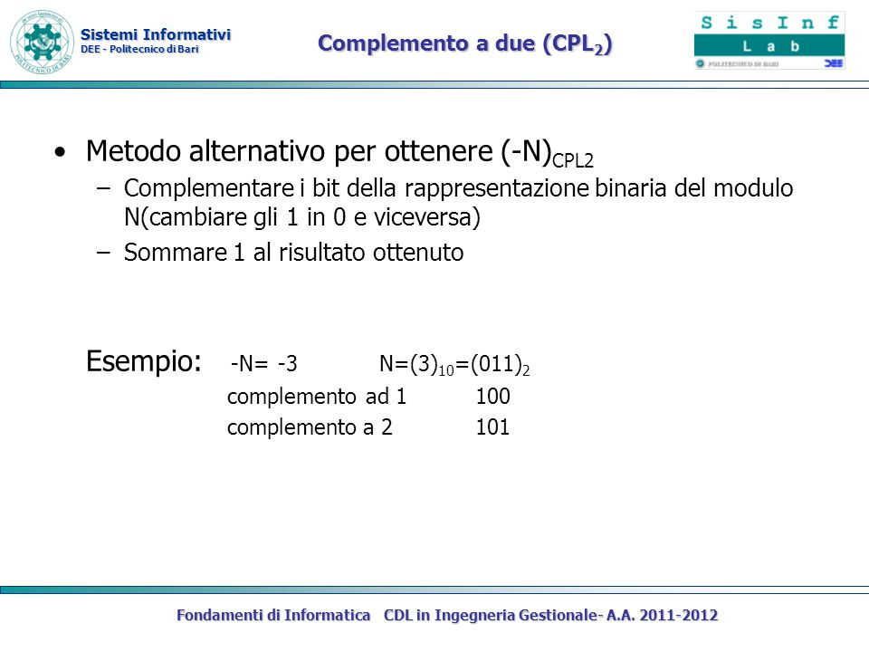 Complemento a due (CPL2)