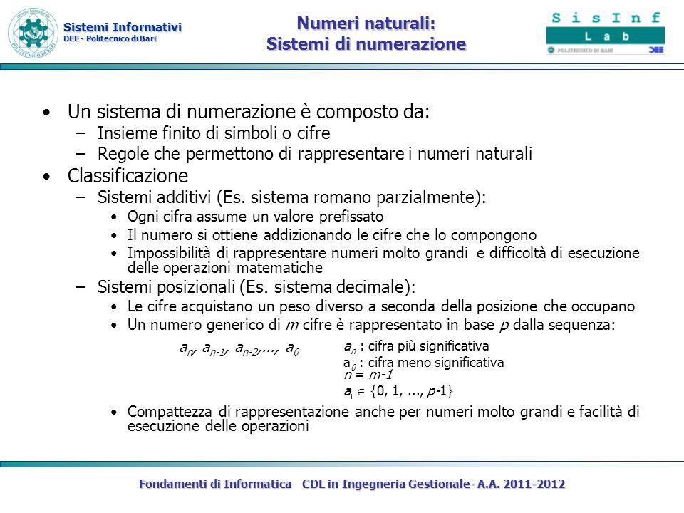 Numeri naturali: Sistemi di numerazione