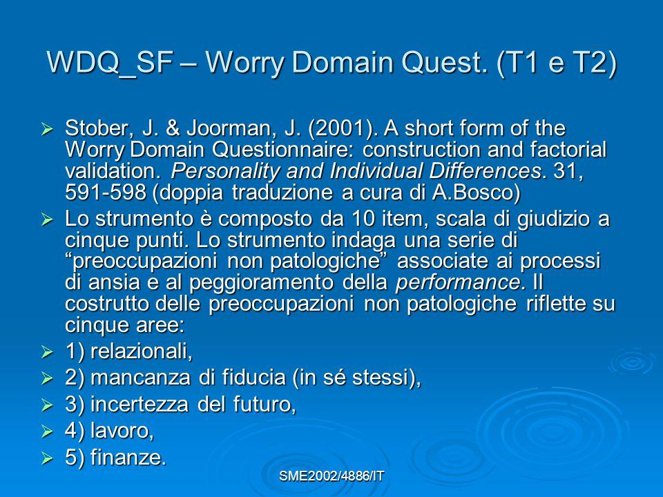 WDQ_SF – Worry Domain Quest. (T1 e T2)