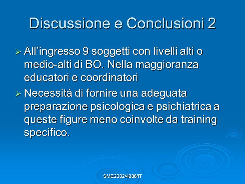 Discussione e Conclusioni 2