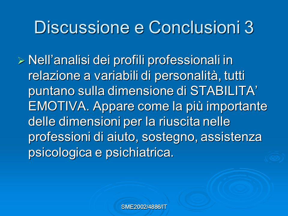 Discussione e Conclusioni 3
