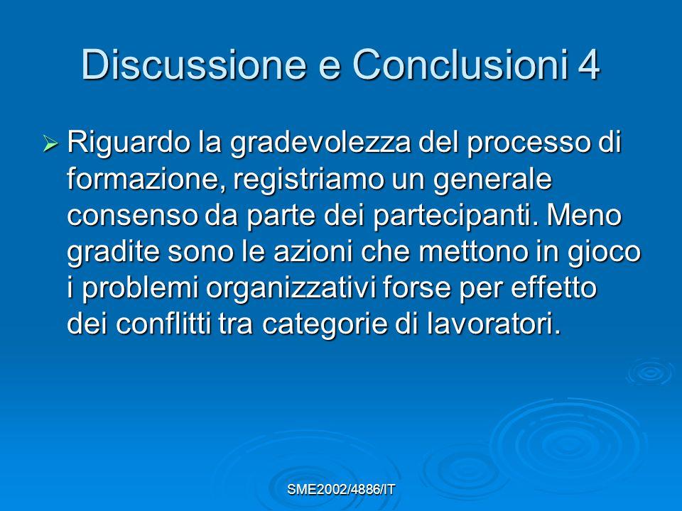 Discussione e Conclusioni 4