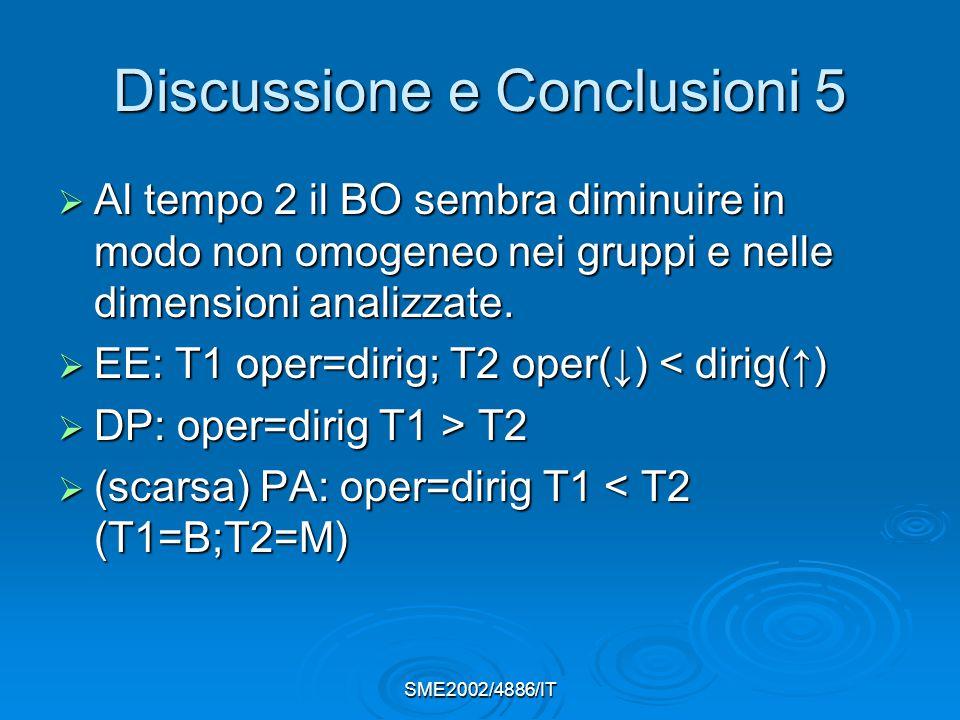 Discussione e Conclusioni 5