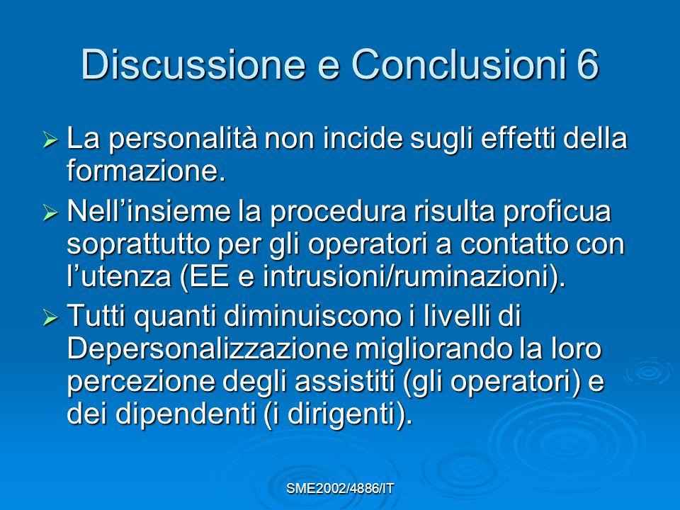 Discussione e Conclusioni 6