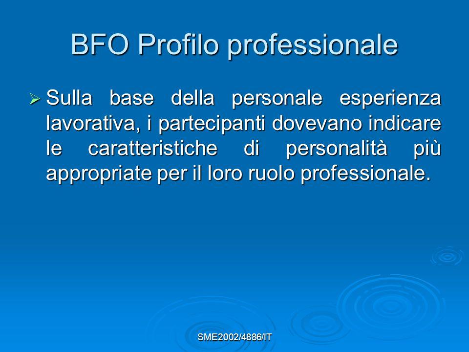 BFO Profilo professionale