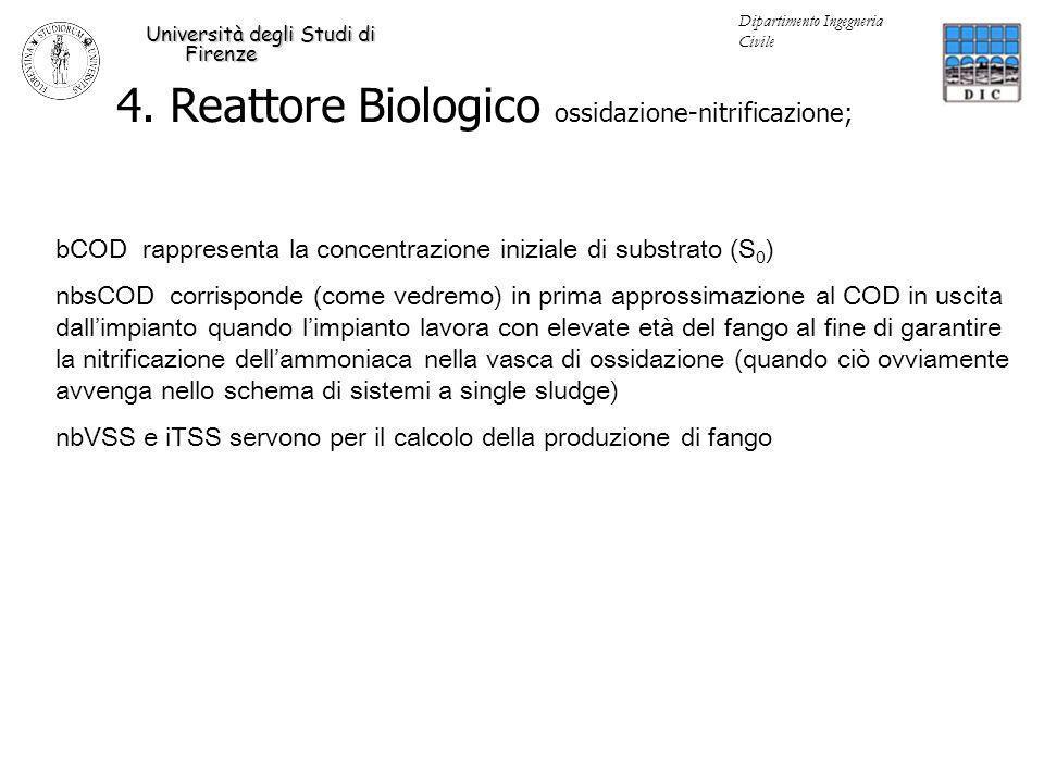 4. Reattore Biologico ossidazione-nitrificazione;