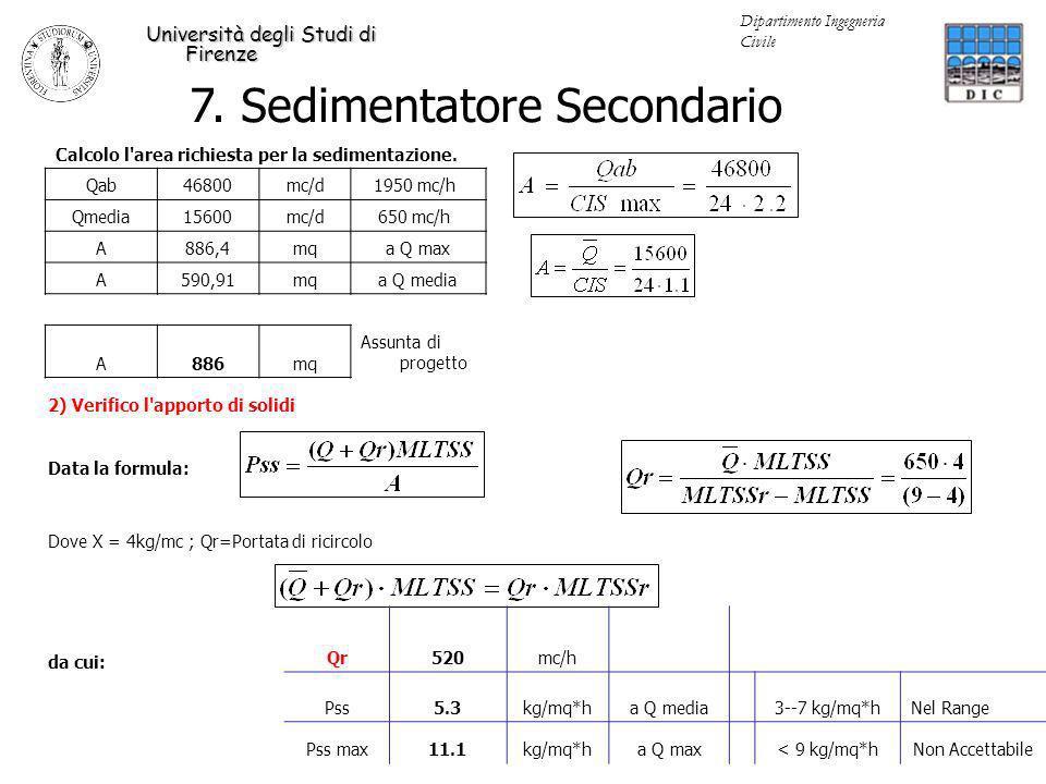 7. Sedimentatore Secondario
