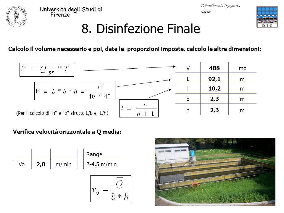 8. Disinfezione Finale Università degli Studi di Firenze