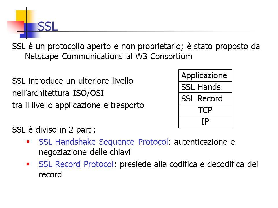SSL SSL è un protocollo aperto e non proprietario; è stato proposto da Netscape Communications al W3 Consortium.