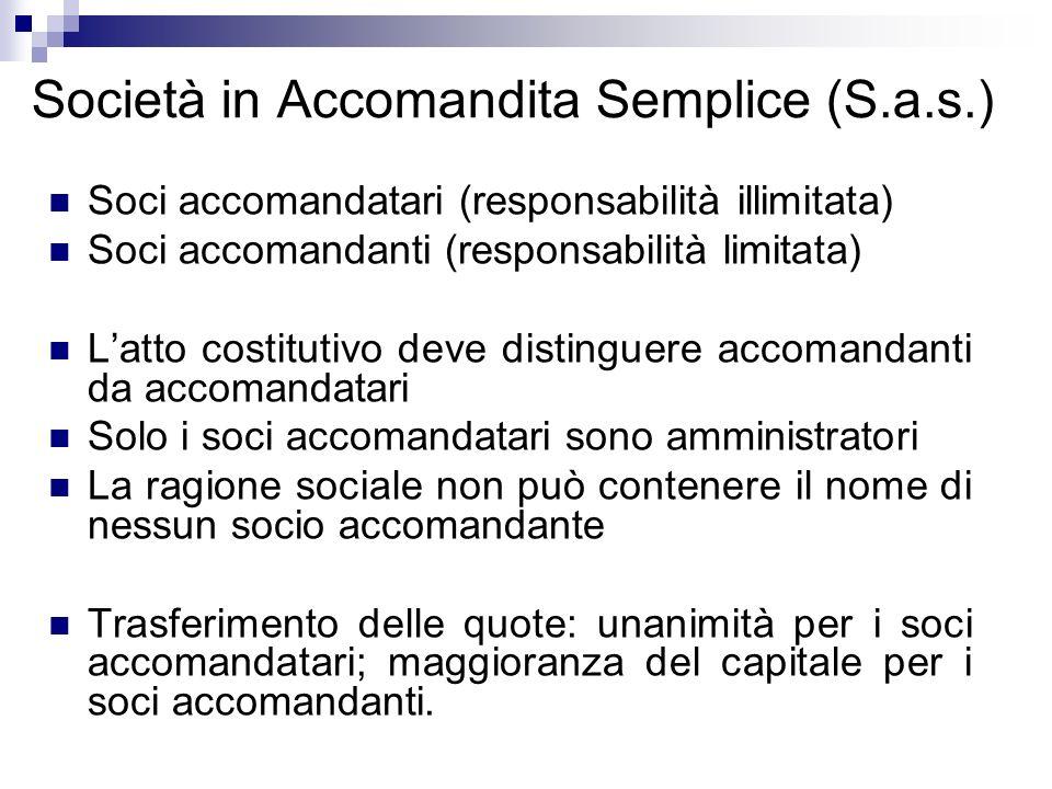Società in Accomandita Semplice (S.a.s.)