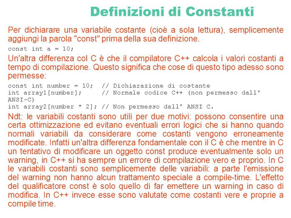 Definizioni di Constanti
