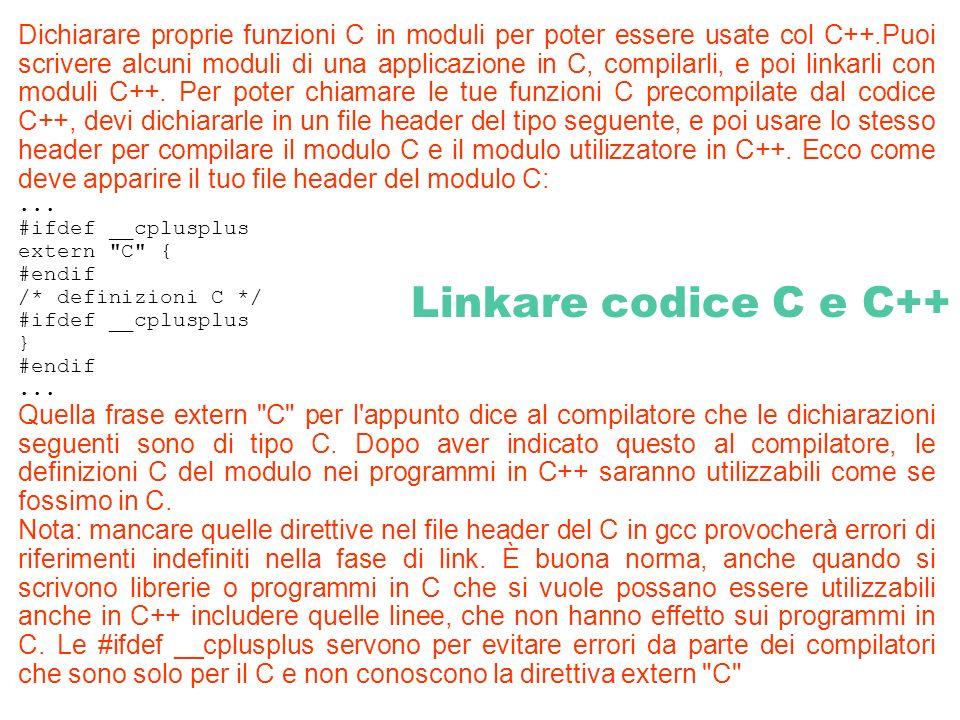 Dichiarare proprie funzioni C in moduli per poter essere usate col C++