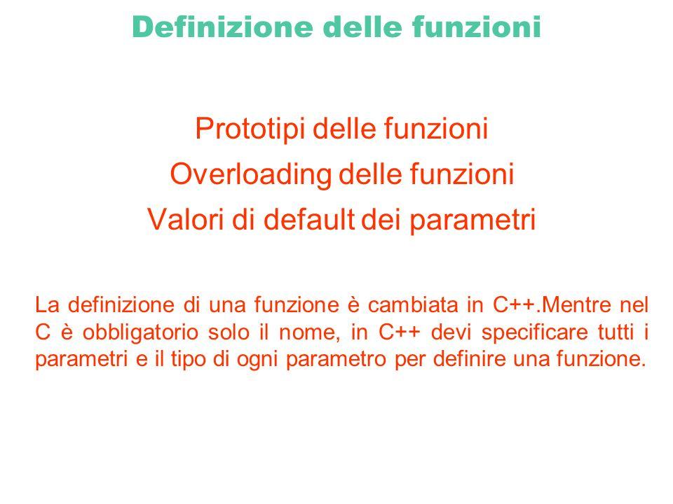 Definizione delle funzioni
