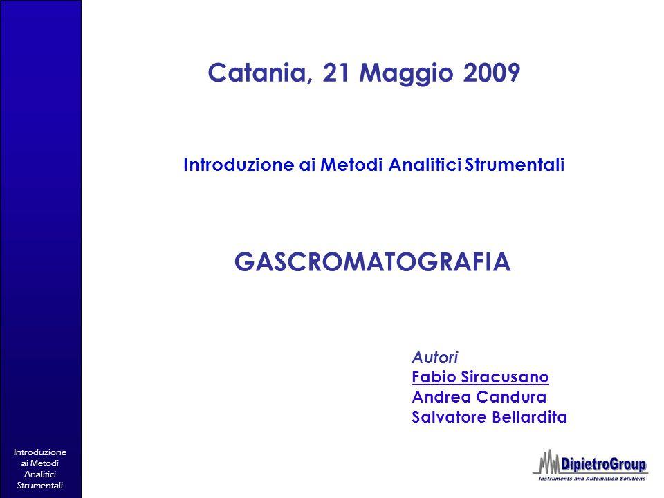 Introduzione ai Metodi Analitici Strumentali
