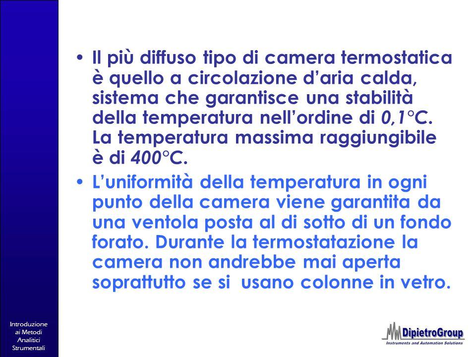Il più diffuso tipo di camera termostatica è quello a circolazione d'aria calda, sistema che garantisce una stabilità della temperatura nell'ordine di 0,1°C. La temperatura massima raggiungibile è di 400°C.